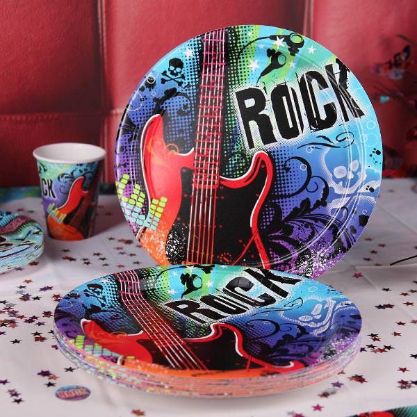 Pappteller Rock Star
