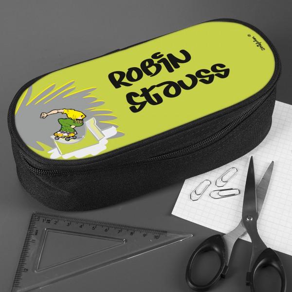Stiftebox mit Skateboarder und Wunschname