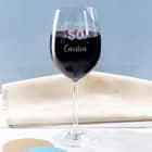 Happy Birthday 50 - graviertes Weinglas zum 50. Geburtstag mit Name