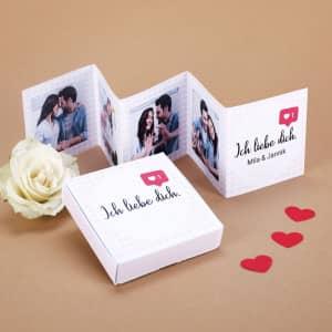 Faltbares Mini Fotobuch zum Valentinstag