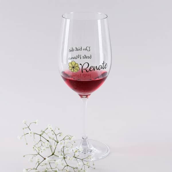 Persöniches Weinglas für die beste Mama