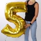 Riesiger Folienballon in Gold - 5