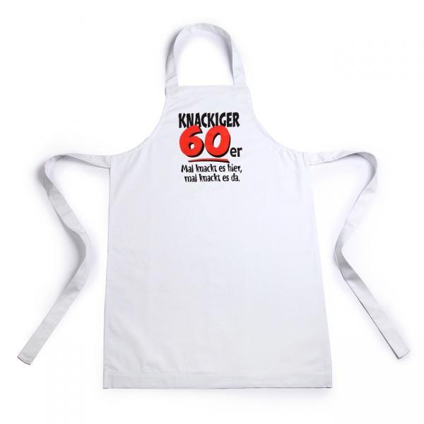 weiße Schürze für Männer zum 60. Geburtstag