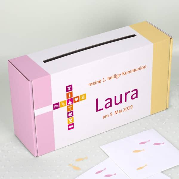 Briefbox Für Mädchen Zur Kommunion Konfirmation Oder Taufe Mit Name Und Wunschtext