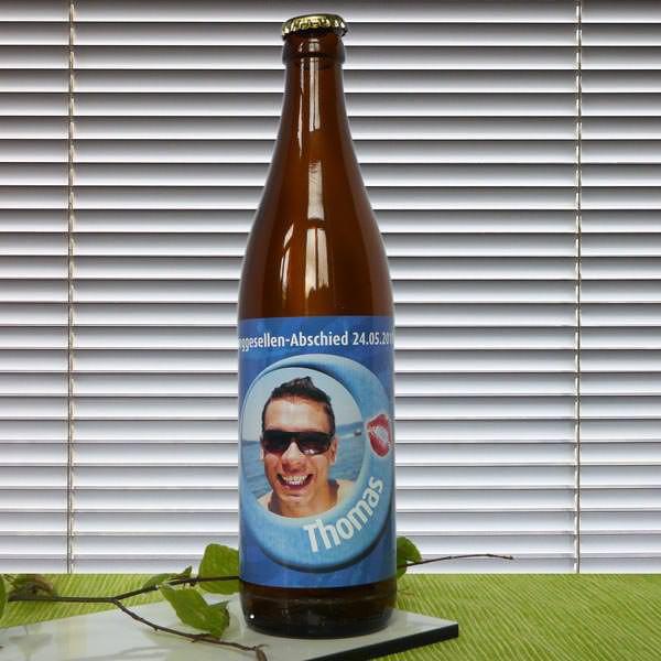 Bieraufkleber Partyspaß mit Wunschname, Text und Bild