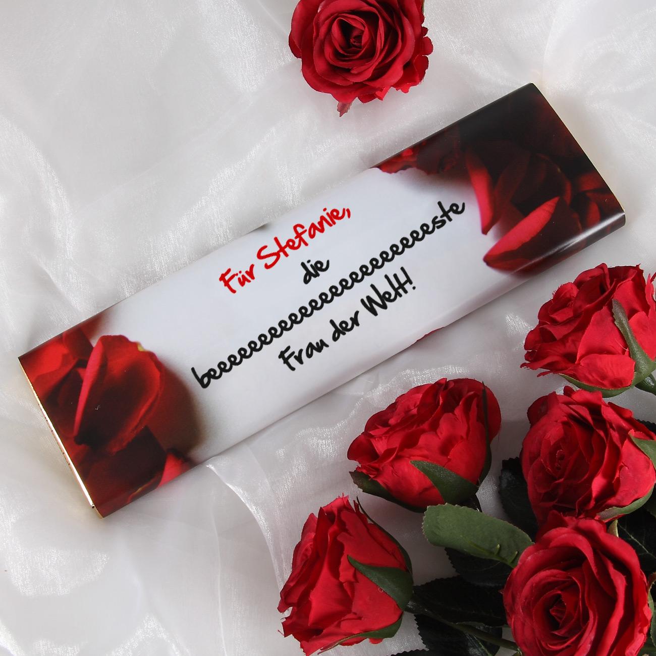 gro e schokolade liebesbotschaft zum valentinstag f r. Black Bedroom Furniture Sets. Home Design Ideas