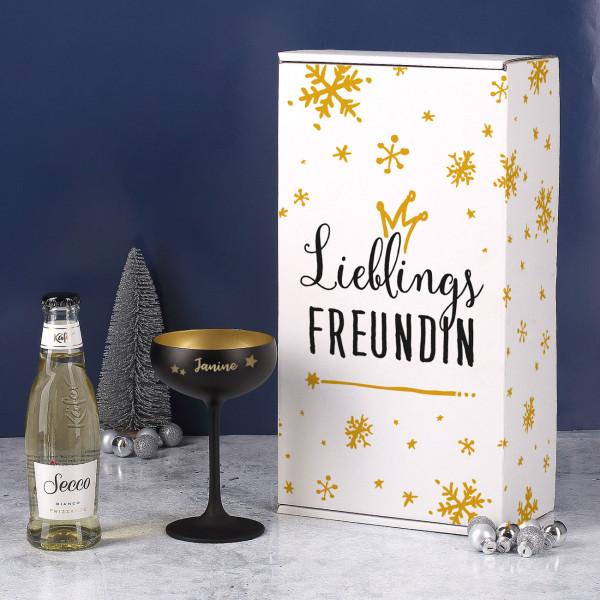 Weihnachtsset - Lieblings - mit Box, Sektschale und Secco