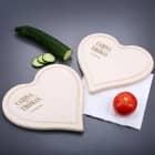 2 Herzbrettchen mit Wunschnamen und Datum