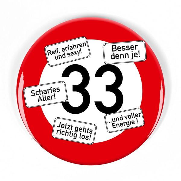 XXL Button Verkehrszeichen 33