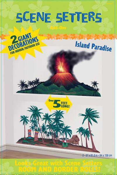 2 Schilder Insel als Dekoration