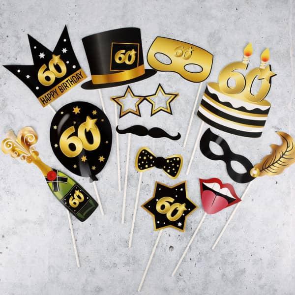 Foto Set Star - Accessoire zum 60. Geburtstag