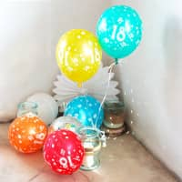 5 Luftballons zum 18. Geburtstag