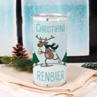 Renbier zu Weihnachten mit Name