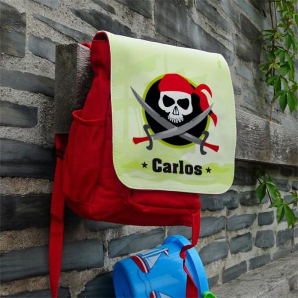 Piratenrucksack für Kinder mit Namensaufdruck