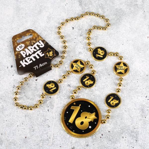 Party Kette zum 18. Geburtstag - Star