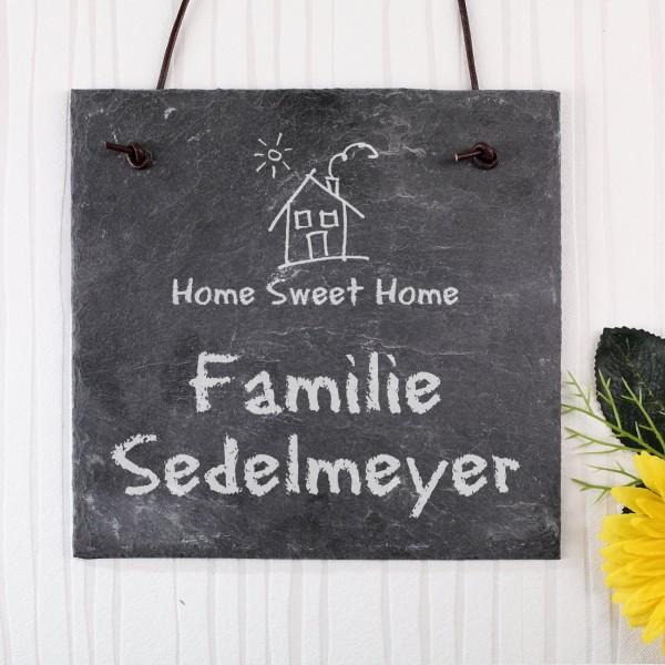 Home Sweet Home - Schiefertafel mit Gravur