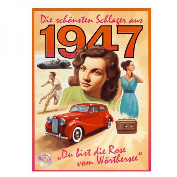 Geburtstagskarte mit CD für den Jahrgang 1947