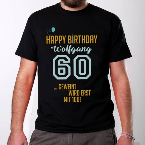 T Shirt Geburtstag Manner Name Happy Birthday