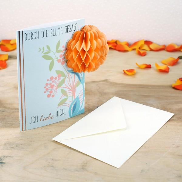 Valentinstagskarte - Durch die Blume gesagt - Ich Liebe Dich