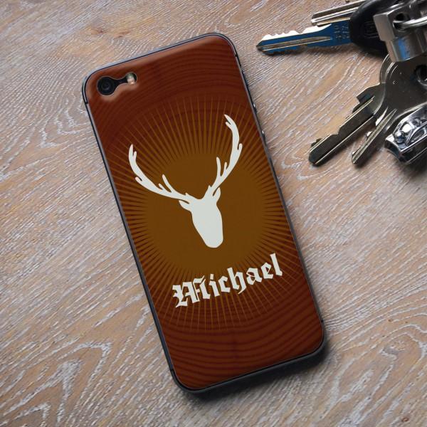Jelliskin für iPhone 5 mit Jägermotiv und Wunschname bedruckt