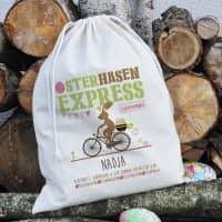 Geschenksack vom Osterhasen-Express mit Ihrem Namen bedruckt, 40 x 50 cm