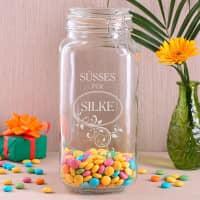 Vorratsglas für Süßes mit Gravur Ihres Wunschnamens