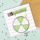 Glückwunschkarte mit Drehkarte zum 30. Geburtstag