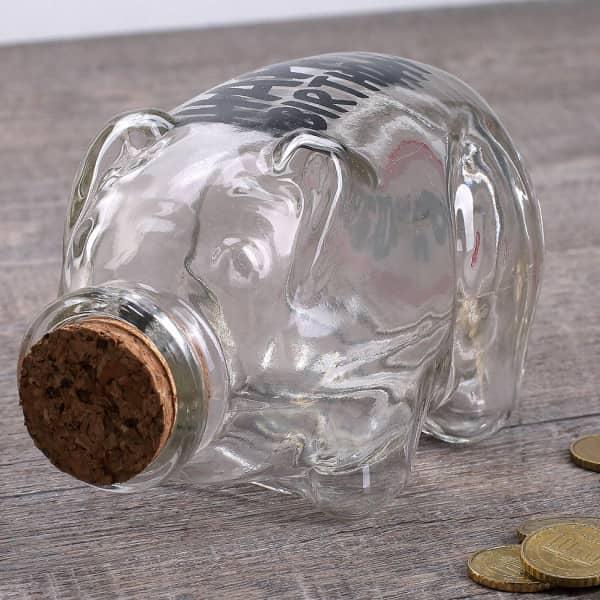 Flaschenpost Sparschwein zum 70. Geburtstag