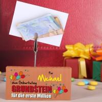 Geldgeschenk Grundstein für die erste Million