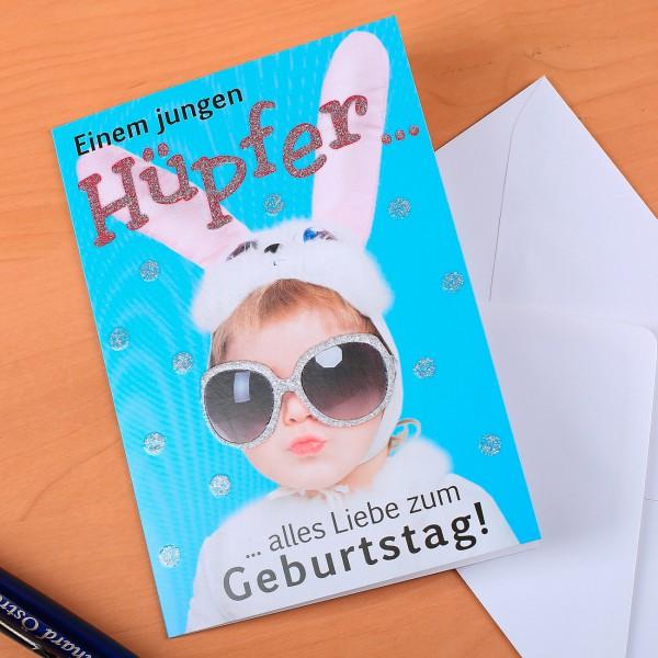 Geburtstagskarte für junge Hüpfer