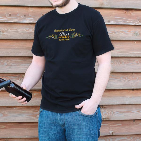 Individuellbekleidung - Bier macht den Träger dieses T Shirts schön - Onlineshop Geschenke online.de