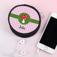 Runde Glückspilz Kopfhörertasche mit Name