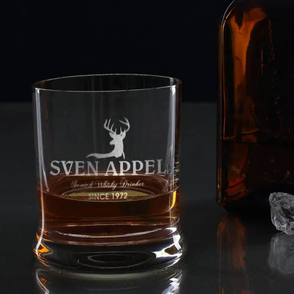 Scotch Whiskey Drinker Whiskyglas mit Gravur
