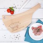 XL Holzbrett - Schwein - für Fleischliebhaber
