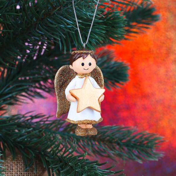 Goldener Weihnachtsengel mit Stern