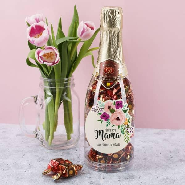Pralinenflasche für die beste Mama