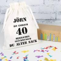 Geburtstags-Geschenksack zum 40. Geburtstag