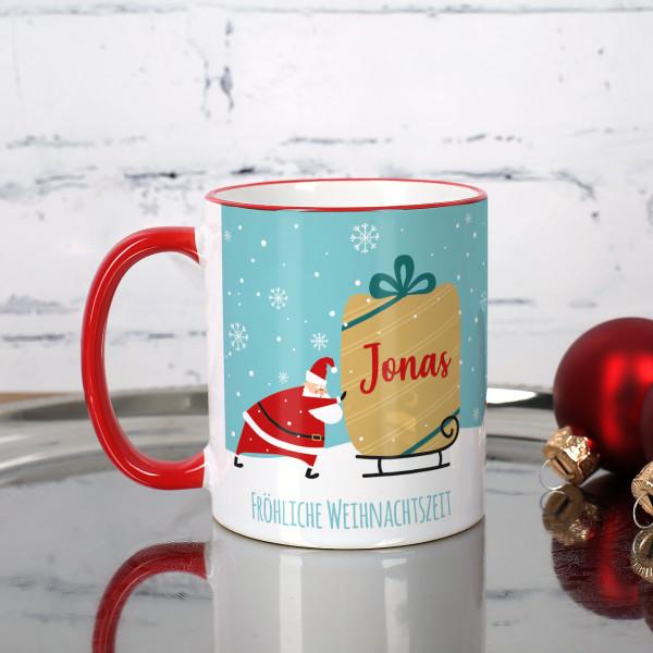 Individuellküchenzubehör - Nikolaustasse mit Name und Wunschtext - Onlineshop Geschenke online.de