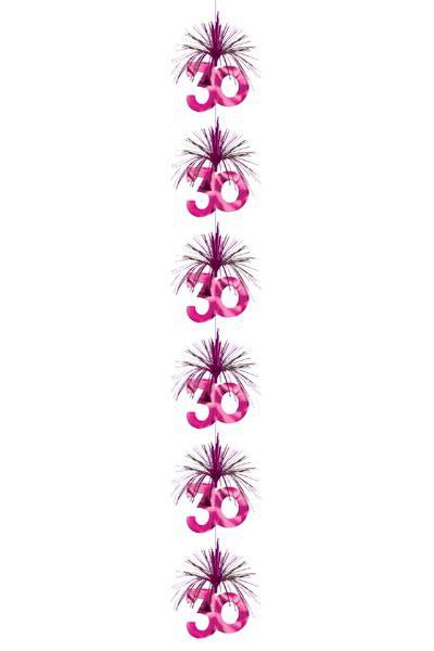 Deko kaskade in pink zum 30 geburtstag Deko 30 geburtstag pink