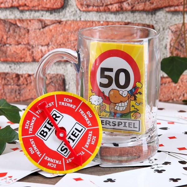 Bier-Spiel im Glas 50