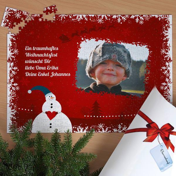 XXL Weihnachtspuzzle mit Scheemann und Foto