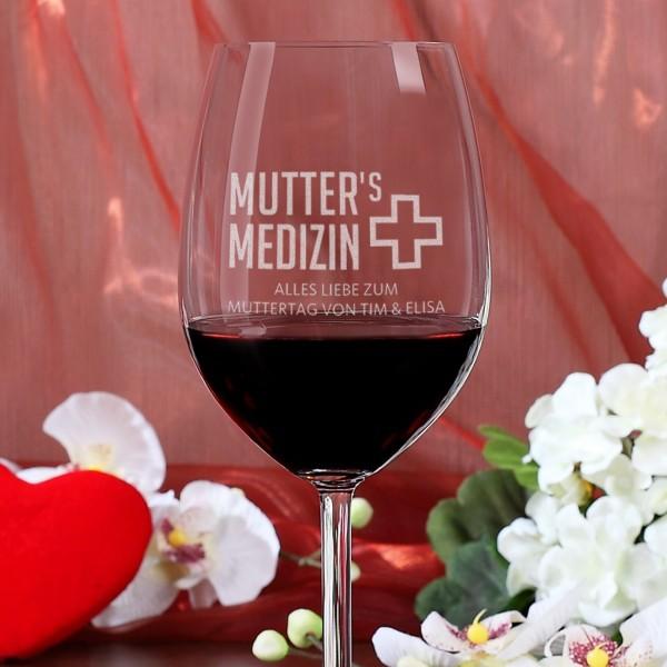 Weinglas zum Muttertag - Mutter´s Medizin
