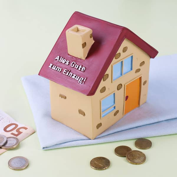 Spardose Haus - Alles Gute zum Einzug