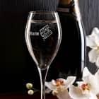 Graviertes Champagnerglas - Happy New Year - mit Wunschname