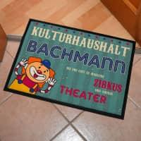 Kulturhaushalt - lustige Fußmatte mit Ihrem Namen