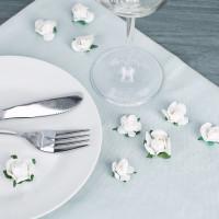 Deko-Rosen in Weiß