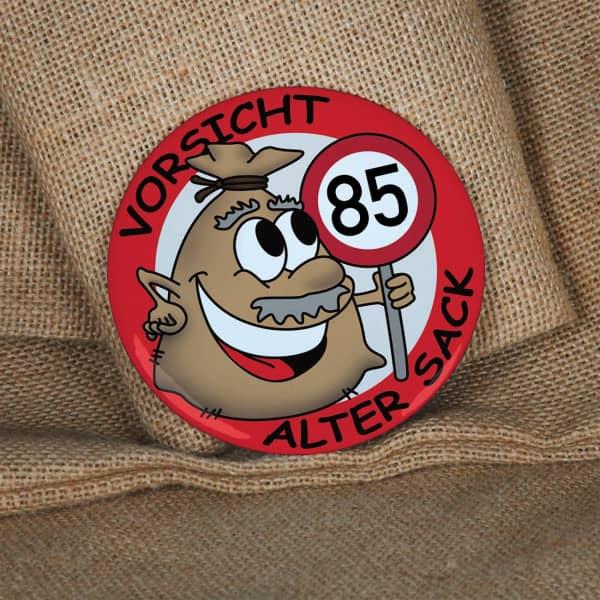 Button zum 85. Geburtstag