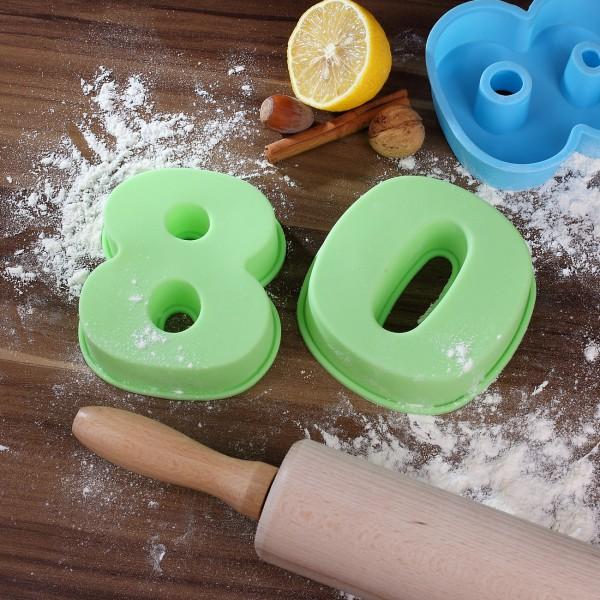 Backform zum 80. Geburtstag, grün