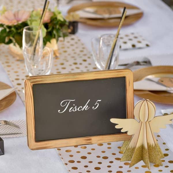 Tisch Tafel mit Holzrahmen
