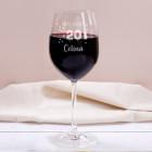 Happy Birthday 20 - graviertes Weinglas zum 20. Geburtstag mit Name